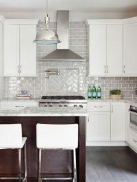 Stephanie Kraus Designs, LLC White cabinets, gray ...