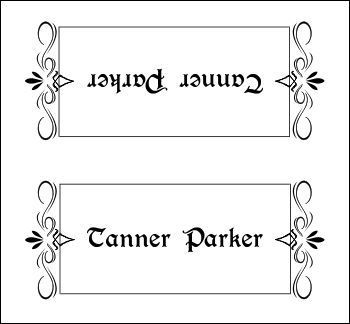 1000+ ideas about Place Card Template on Pinterest