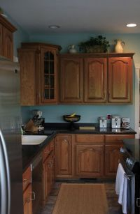 1000+ images about Kitchen Honey oak cabinets and wall ...