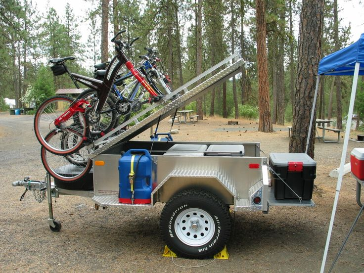 Off Road Trailer With Bike Rack Trailer Pinterest