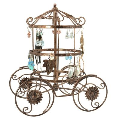Amazon.com: Cinderella Rotating Carriage Jewelry Storage / Earring Organizer / Bracelet Necklace Hanger Display Stand: Clothing