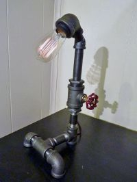 FAUCET HANDLE DIMMER! Pipe lamp with faucet dimmer
