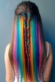 newest hidden rainbow hair colors