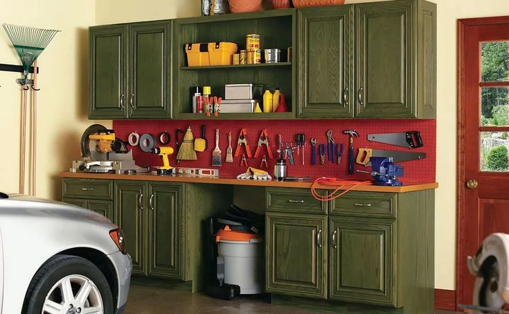 Putting your garage in order is easier than you think Purchase lowcost cabinets at home