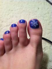 toenail christmas design style