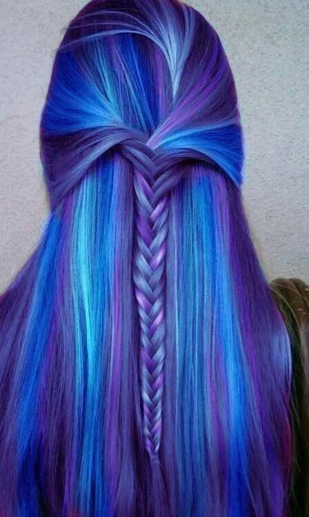 Blue And Purple Hair Not Your Average Beauty Pinterest