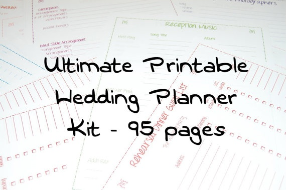 Printable Wedding Planner, INSTANT DOWNLOAD, Ultimate