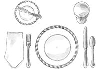 17+ best ideas about Table Setting Guides on Pinterest