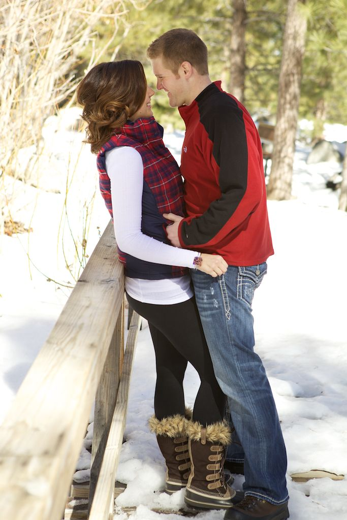 Love this photo for a winter engagement/couples shoot. But mostly I want her outfit!!!
