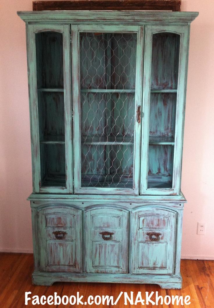 Furniture Makeover Old Hutch With Broken Glass Door