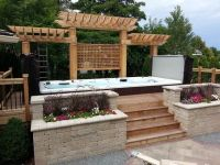 Beautiful Swim Spa Install with cedar pergola | Paradise ...