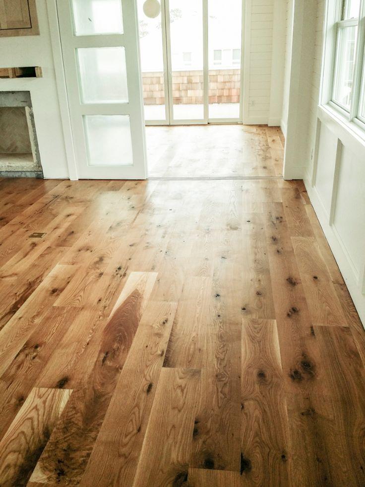 Rubio Monocoat Oil in Pure on White Oak  flooring