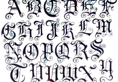 Tattoo Letters With Designs