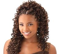 cornrow with curly weave | Curly braids for your hair ...