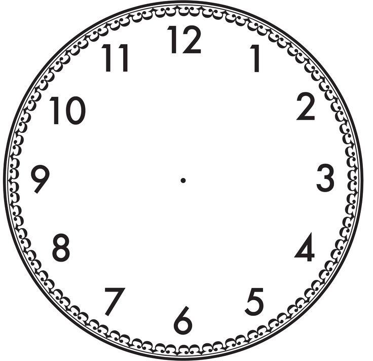 17 Best images about Clock Face Templates on Pinterest