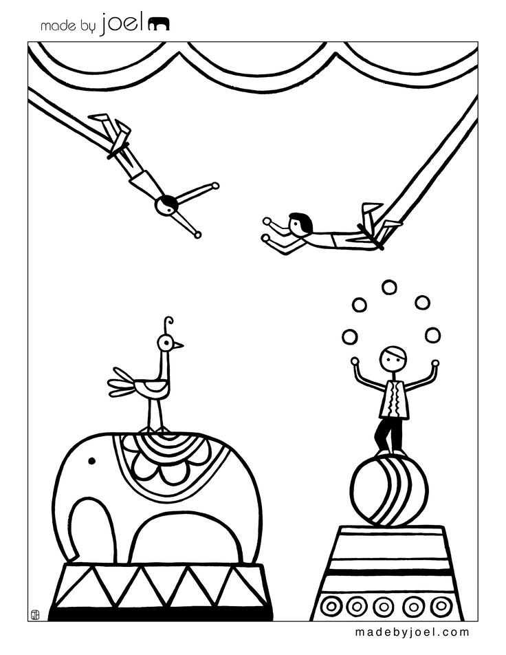 52 best images about Circus Coloring Pages on Pinterest