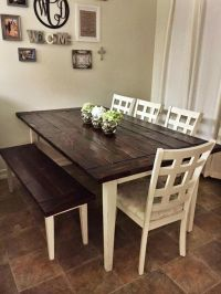 Farmhouse Style Table And Chairs. Excellent Beautiful ...