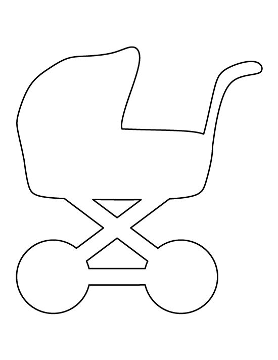 Baby carriage pattern. Use the printable outline for