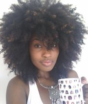 kinky curly afro. coily