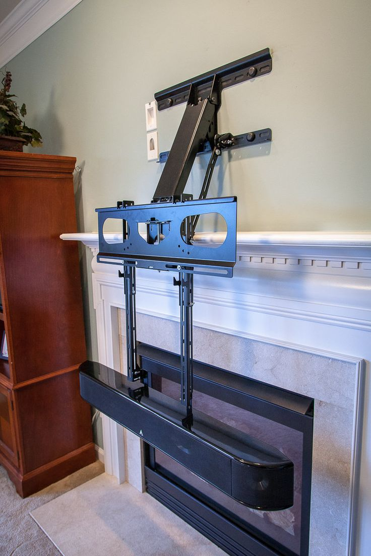 Center Speaker Bracket  Dynamic Mounting  Fireplace TV Mount  Pinterest  Center speaker and