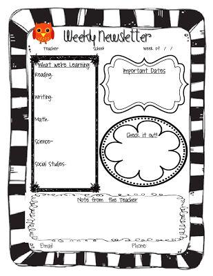 10+ best ideas about School Newsletters on Pinterest