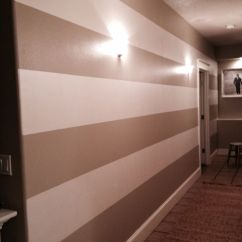 Paint Colors For Living Rooms With White Trim Curtains In Small Room Hallway Stripes - Behr Castle Path 2 Coats, Miller ...