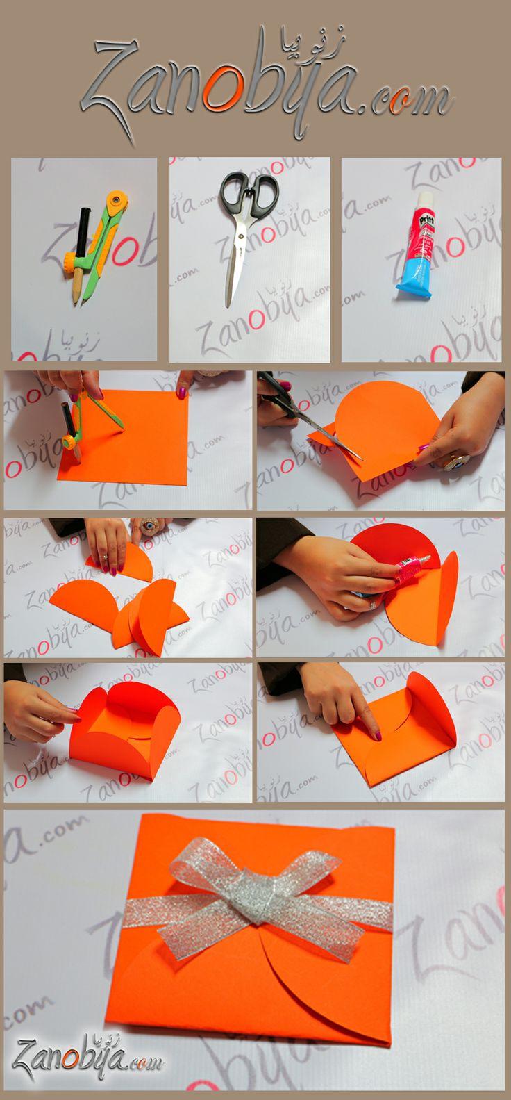 بالفيديو طريقة عمل غلاف بطاقة تهنئة مميز DIY اعمال