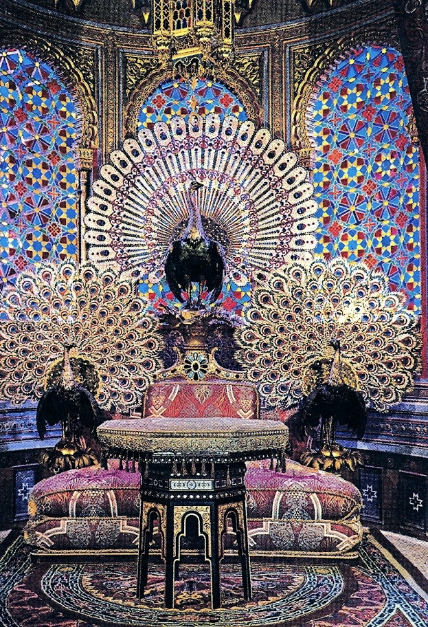 Peacock Throne in Moorish Kiosk Linderhof Castle Germany