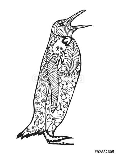 105 best images about ♥ZENTANGLE PENGUINS♥ on Pinterest