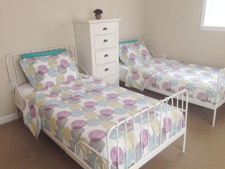 Girls Shared Bedroom Ikea Malin Rund Bedding Ikea