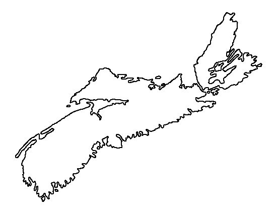 Nova Scotia pattern. Use the printable outline for crafts