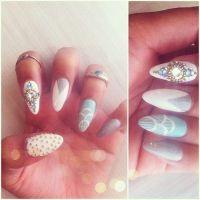 pretty nails tumblr | nails nail art pointed nails sharp ...