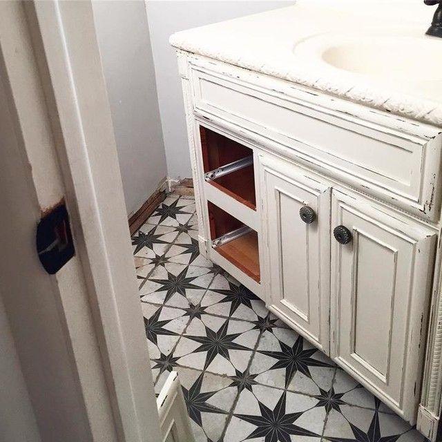 Vintage look bathroom floor tile  Star Ceramic Wall and