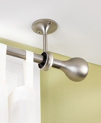 25 Best Ideas About Ceiling Mount Curtain Rods On Pinterest