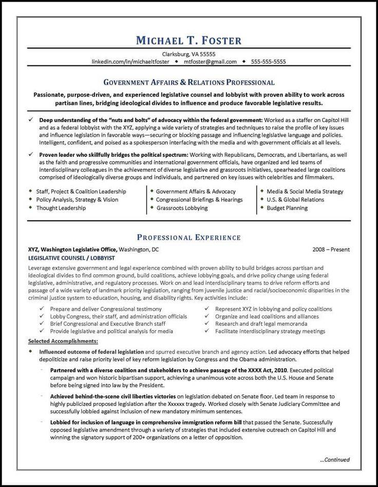 resume example pursued