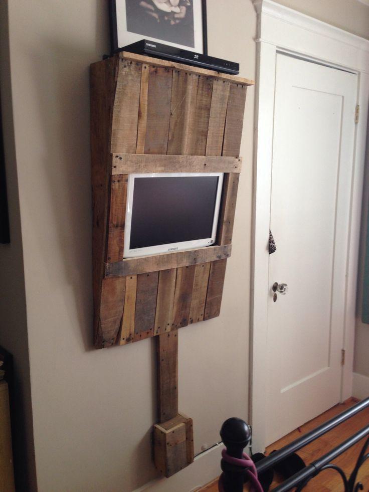 DIY pallet wood wall mounted TV unit  DIY  CRAFTS