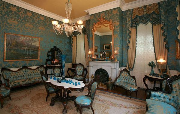 victorian parlor chairs blue dining chair natchez plantation interior | stanton hall the towers (ca. 1798-1826-1858 ...
