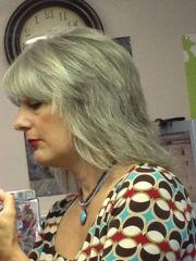 gray hair haircut long shag