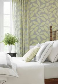 Komodo Leaves fabric and wallpaper from #Biscayne #Thibaut ...