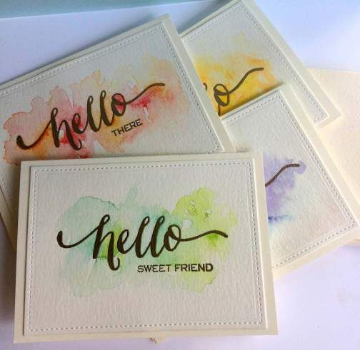 Watercolor Card Sets – gorgeous!