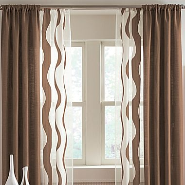 Rod Pocket Curtains Drapery Panels And Green And Brown On Pinterest