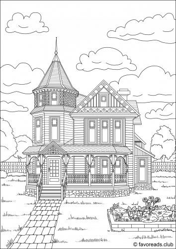 744 best images about Adult Colouring~Buildings~Houses