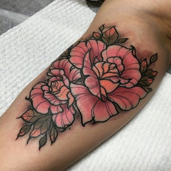 20 Pale Pink Flower Tattoos Ideas And Designs