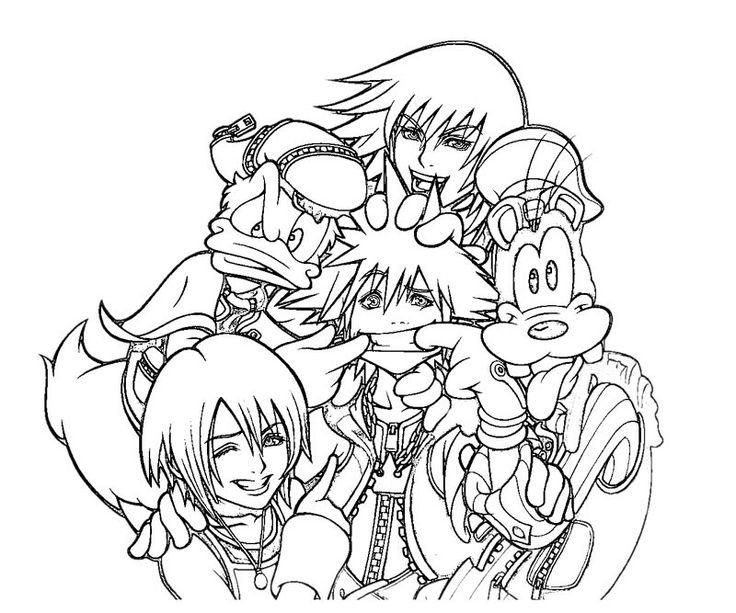 Kingdom Hearts 4k Pattern Wallpaper