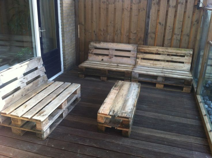 Euro pallets lounge set  Balcony ideas  Pinterest  Euro