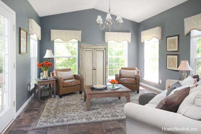 Charcoal Gray Sun Room Colors Sun And Gray