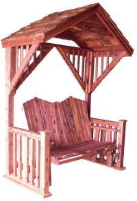 Cedar Covered Garden Swing Bench Seat Wood Outdoor Glider ...