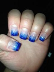 dark and light blue glitter gel