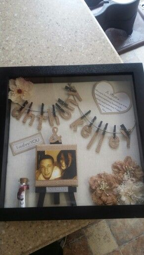 My Shadow Box For My Boyfriend Crafts Pinterest