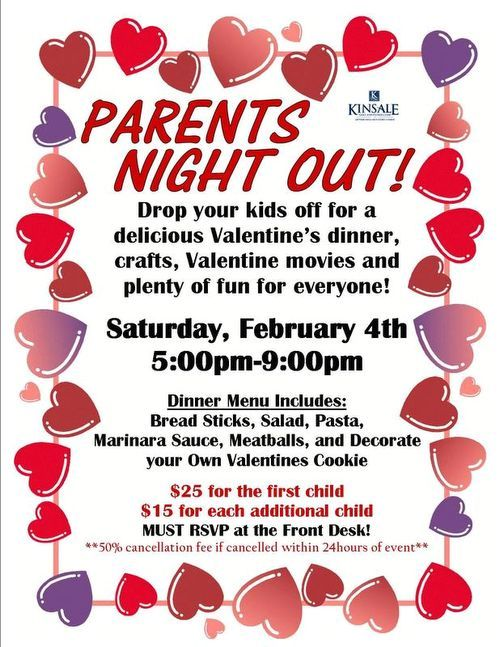 Parents Night Out Valentine Sample Flier GNO